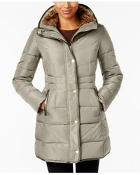 Cole Haan - Mixed Media Heavyweight Puffer Coat - Lyst
