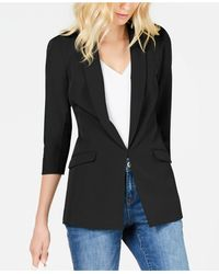 INC International Concepts Petite Menswear Blazer, Created For Macy's - Black