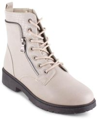 Wanted Mission Lace Up Combat Booties - Multicolor
