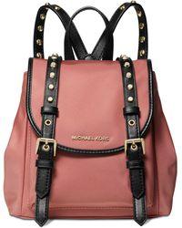 3d647f76ca602 Michael Kors - Michael Leila Nylon Mini Flap Backpack - Lyst