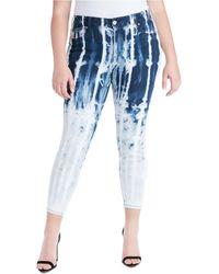Jessica Simpson Trendy Plus Size Kiss Me Tie-dyed Skinny Jeans - Blue