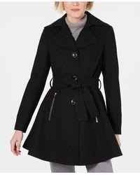 INC International Concepts Inc Skirted Walker Coat, Created For Macy's - Black