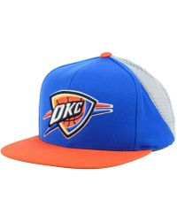 super popular eecd5 dc44a ... discount code for mitchell ness oklahoma city thunder curved mesh  snapback lyst fd82c 647d0