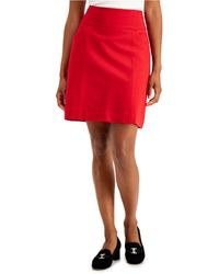 Charter Club Pull-on Mini Skirt, Created For Macy's - Red