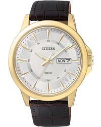 Citizen - Men's Brown Leather Strap Watch 41mm Bf2018-01a - Lyst