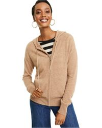 Charter Club Cashmere Zip-front Hoodie, Regular & Petite Sizes, Created For Macy's - Brown