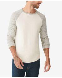 Lucky Brand Duofold Baseball Shirt - White