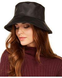 Nine West Reversible Rain Bucket Hat - Black