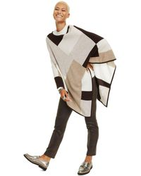 Charter Club Colorblock Cashmere Poncho, Created For Macy's - Multicolor
