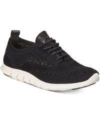 Cole Haan Zerøgrand Stitchlite Oxford Sneakers - Black