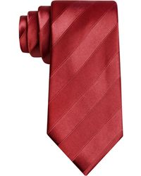 Sean John Wilson Solid Stripe Tie - Red