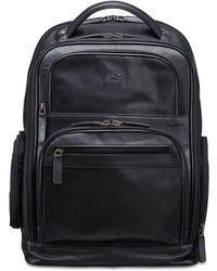 Mancini Buffalo Collection Laptop/ Tablet Backpack - Black