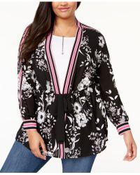 INC International Concepts - I.n.c. Plus Size Striped-trim Kimono, Created For Macy's - Lyst