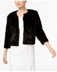Calvin Klein   Faux-fur Cropped Jacket   Lyst