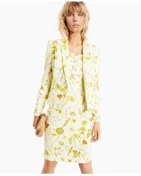 INC International Concepts Floral-print Denim Blazer, Created For Macy's - Yellow