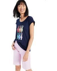 Style & Co. - Rainbow Plaid Peace Graphic T-shirt, Created For Macy's - Lyst