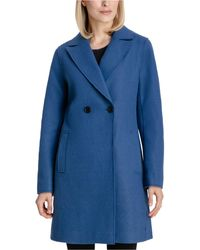 BCBGeneration Raw-edge Double-breasted Walker Coat - Blue