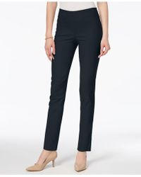 Charter Club Chelsea Petite Tummy-control Ankle Pants, Created For Macy's - Blue