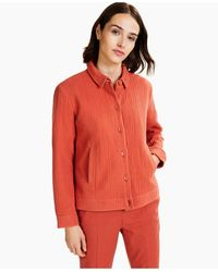 Alfani Textured Button-front Jacket, Created For Macy's