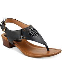 Tommy Hilfiger Kissi Block-heel Sandals - Black