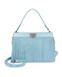 INC International Concepts Inc Pixiee Fringe Satchel, Created For Macy's - Blue