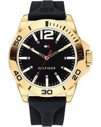 Tommy Hilfiger - Black Silicone Strap Watch 44mm - Lyst