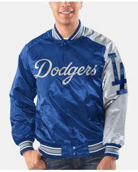 various colors e501f 29853 Los Angeles Dodgers Dugout Satin Jacket - Blue