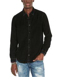 Buffalo David Bitton Snap-front Denim Shirt - Black