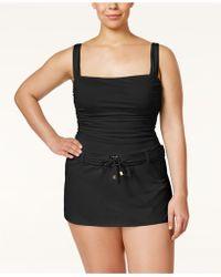 Bleu Rod Beattie | Plus Size Gilt Trip Belted Swimdress | Lyst