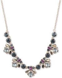"""Marchesa - Gold-tone Stone & Crystal Cluster Collar Necklace, 16"""" + 3"""" Extender - Lyst"""