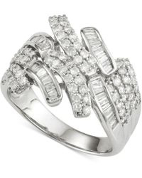 Wrapped in Love - Diamond Ring (1 Ct. T.w.) In 14k White Gold - Lyst