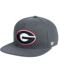 47 Brand Georgia Bulldogs Core Fitted Cap - Gray