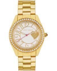 Betsey Johnson - Gold Heart Watch 40mm - Lyst