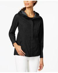 7b5a10c989510 Lyst - 32 Degrees Hooded Waterproof Breathable Raincoat in Black