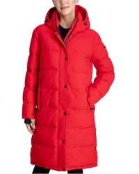 BCBGeneration Hooded Puffer Coat - Red