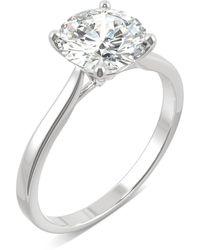 Charles & Colvard Moissanite Round Solitaire Ring (1-9/10 Ct. Tw.) In 14k White Gold - Metallic