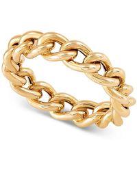 Macy's Chain Link Ring In 14k Gold - Metallic