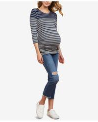 cb6f5316811be Jessica Simpson - Maternity Distressed Skinny Jeans - Lyst