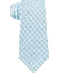 Calvin Klein Grid Dots Skinny Tie - Blue