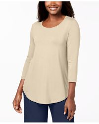 Macy's Jm Collection Scoop-neck Top, Created For - Natural