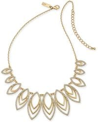 "INC International Concepts Inc Navette Statement Necklace, 18"" + 3"" Extender, Created For Macy's - Metallic"