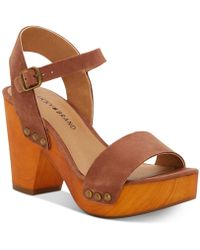 Lucky Brand Trisa Wood Sandals - Brown