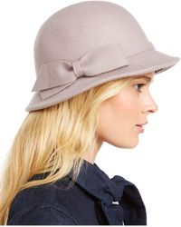 INC International Concepts Inc Modern Bow Cloche, Created For Macy's - Gray