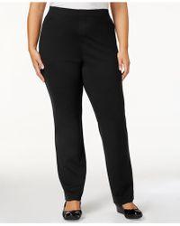 Karen Scott - Plus Size Comfort Pants, Created For Macy's - Lyst