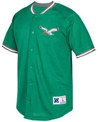 Mitchell   Ness - Men s Seasoned Pro Mesh Button Front Shirt - Lyst be94b927a