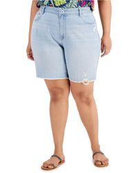 Style & Co. Plus Size Denim Bermuda Shorts, Created For Macy's - Blue