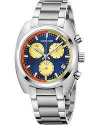 Calvin Klein - Achieve Chronograph Bracelet Watch - Lyst