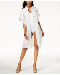 Steve Madden Button-up Shirt & Cover-up - White
