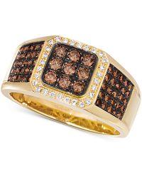 Le Vian Diamond Cluster Ring (7/8 Ct. T.w.) In 14k Gold - Metallic