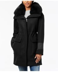 Trina Turk - Fur-collar Coat - Lyst